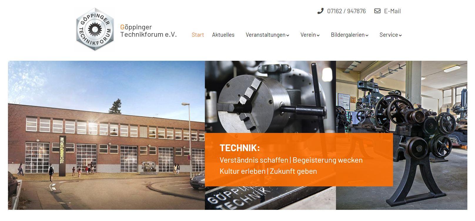 Screenshot Startsweite neue Website