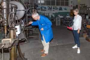 Besuch OB Maier, Erste Bürgermeisterin Almut Cobet und Baubürgermeisterin Eva Noller beim Göppinger Technikforum
